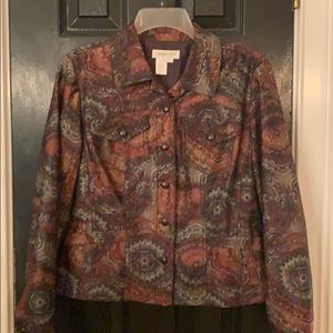 Coldwater Creek print jacket size small